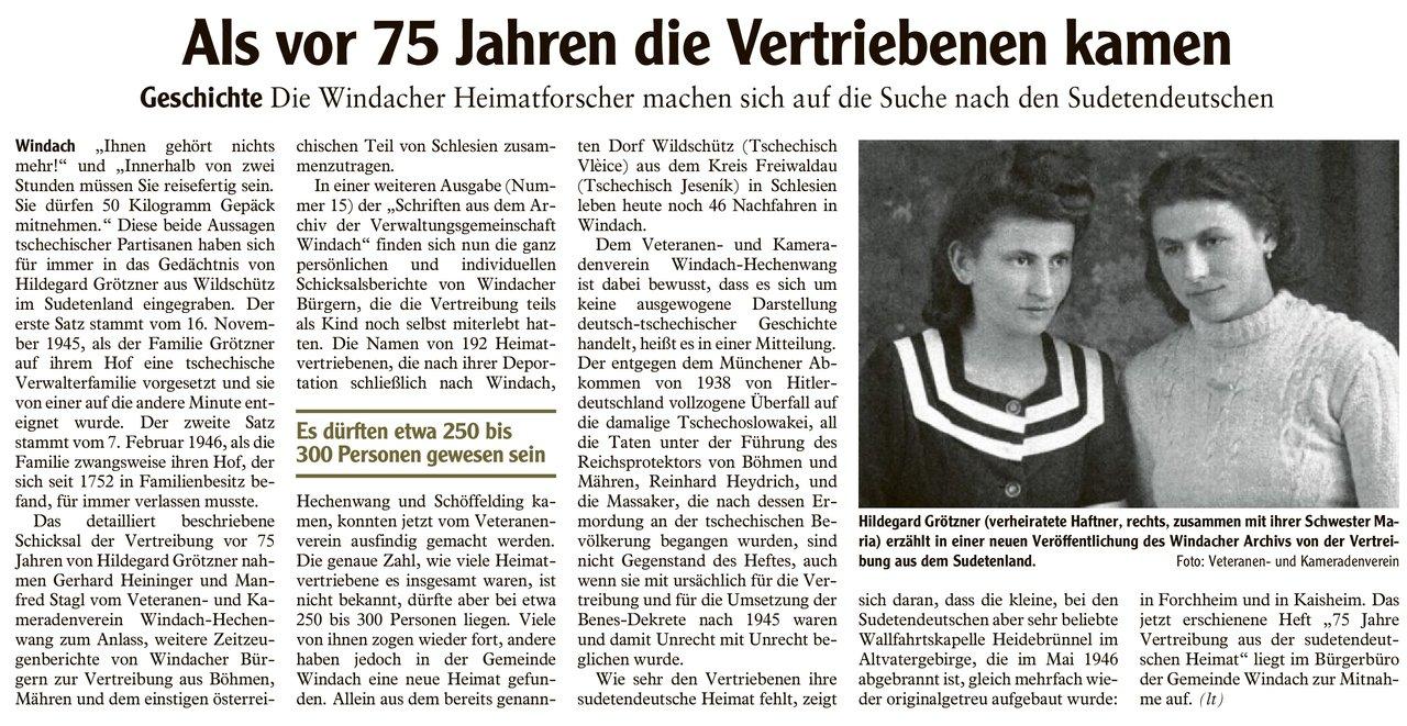 Landsberger Tagblatt vom 23. Februar 2021.